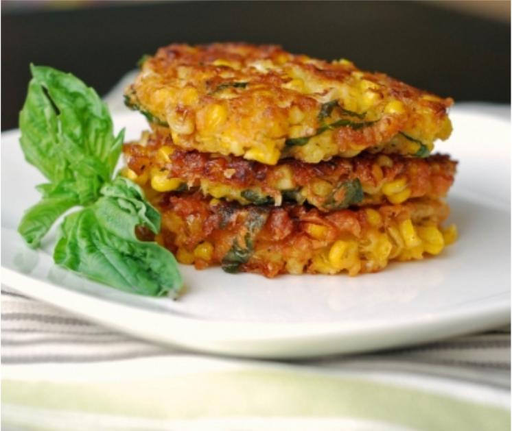 sweetcorn & Halloumi Brunch recipie